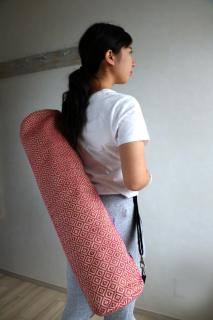 ジュートヨガバッグ(マット入れ) ダイヤ ピンク|商品画像