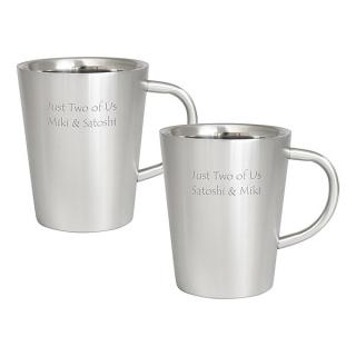 ダブルウォール ステンレスマグカップ ペア 名入れマグカップ|商品画像