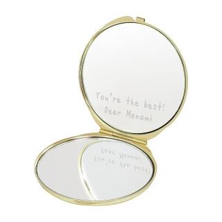コンパクトミラー リボンホワイト 母の日のプレゼントに|商品画像
