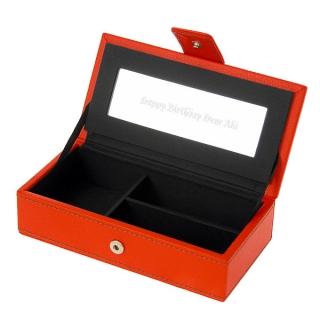 アクセサリーボックス オレンジS 名入れ|商品画像