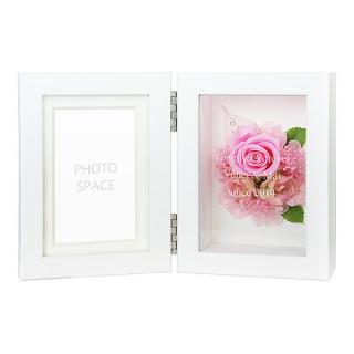プリザーブドフラワー フォトフレーム ピンク S 名前が入るプリザ&フォト|商品画像