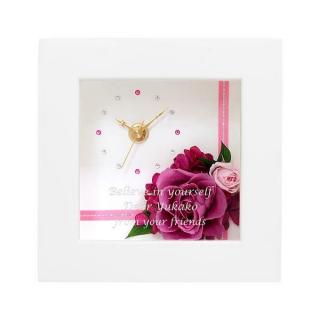 プリザーブドフラワー クロック ピンクS|商品画像