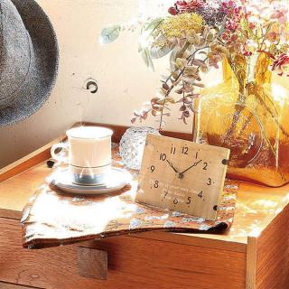 テーブル&ウォールクロック ヒーリング ナチュラル 名入れ 掛け時計 商品画像