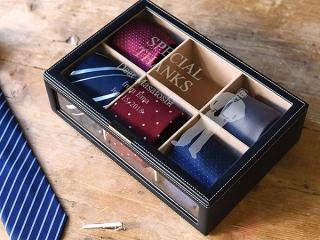 ネクタイケース 男性へ贈る名前入りの男の宝箱 商品画像