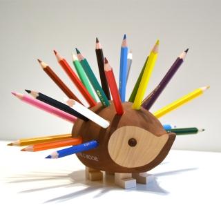 ハリネズミ色鉛筆スタンド(小)|商品画像