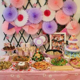パープル×ピンク バースデーパーティーセット|商品画像