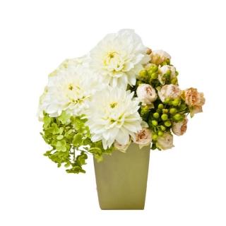 季節のおまかせアレンジメント ホワイトバージョン|商品画像