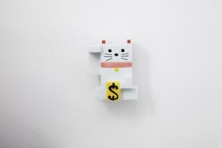 カクカクマネキネコ貯金箱 色付き 大 商品画像