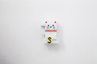 カクカクマネキネコ貯金箱 色付き 小 商品画像