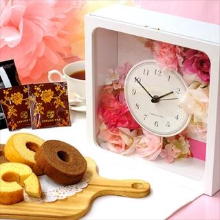 フラワークロック×お菓子のギフト|商品画像