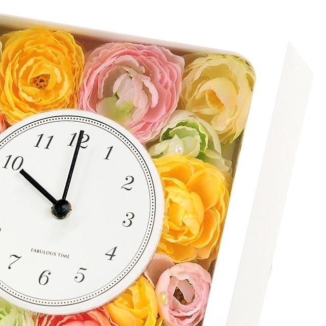 フラワークロック【パッション】(国産時計)HAPPY BIRTHDAYカード付き|商品写真