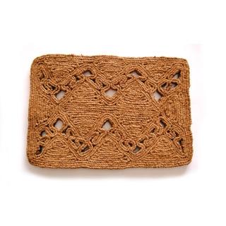 手編みココナッツコイヤー玄関マット 北欧ナチュラルデザイン|商品画像