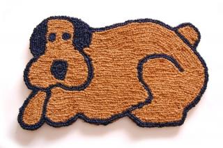 手編みココナッツコイヤー玄関マット Dog|商品画像