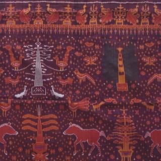 絹絵絣ピダン カンボジアの染織を代表する究極の織物     タペストリー 195cmX95cm|商品画像