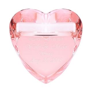 ハートリングピロー ピンク 名入れ ちょっとした結婚祝いに、記念日|商品画像