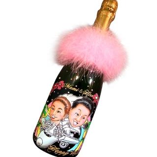 似顔絵シャンパン【日本テレビ】ヒルナンデス!でも紹介された業界初★似顔絵彫刻ボトル|商品画像