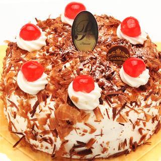 最高級洋菓子 シュヴァルツベルダー キルシュトルテ純生ショートケーキ20cm プレートセット|商品画像
