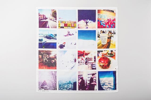 思い出の写真をエシカルなチーフに|商品写真