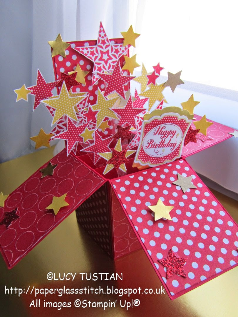 LUCY TUSTIAN Kitty's Star Burst Card in a box birthday card 1