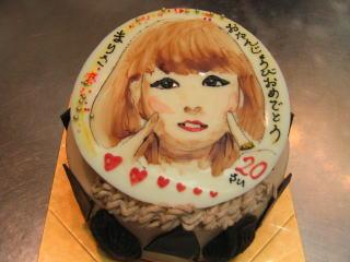誕生日似顔絵ケーキ