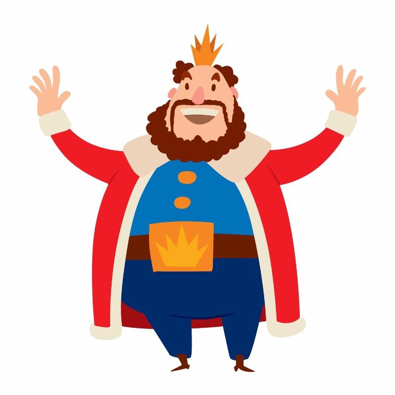 King cartoon vector character.