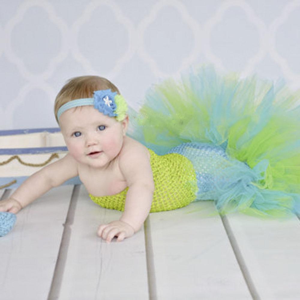 5色meimaid赤ちゃん女の子のドレスかわいいグリーン魚尾チュチュセットヶ月海底写真プロップドレス生臭いハロウィン衣装