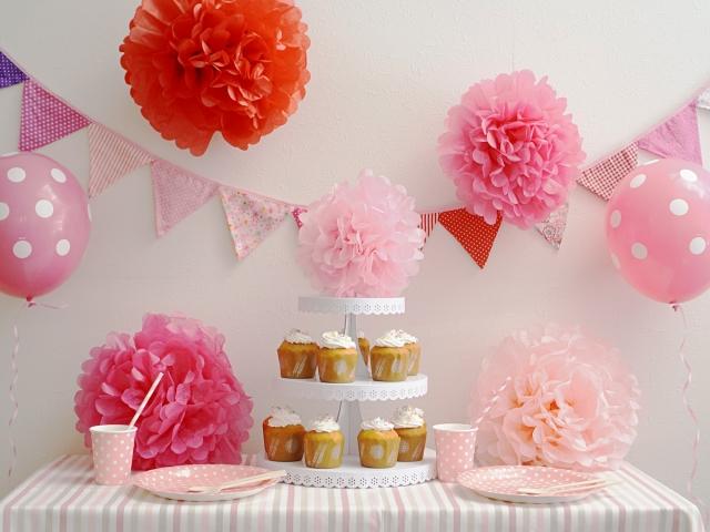 ピンク色のパーティーセット