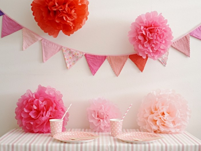 ピンクのパーティーセット