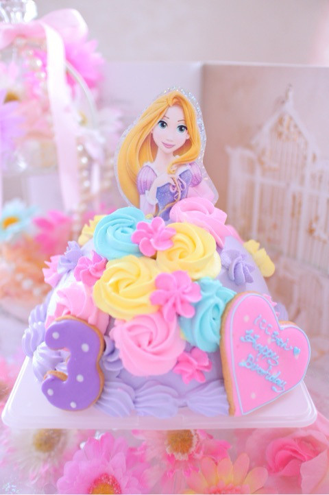 ラプンツェルのドールケーキ