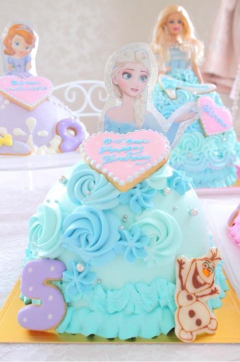エルサのドールケーキ
