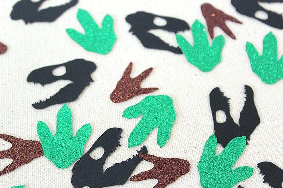 恐竜化石足跡グリッターconfettis表散布結婚式ベビーブライダルシャワー独身パーティーの装飾.jpg_640x640