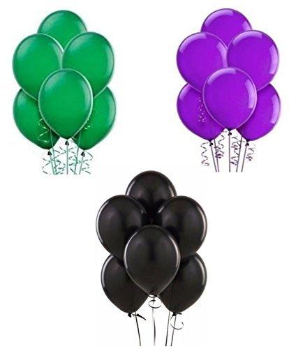 緑・紫・黒のバルーンセット