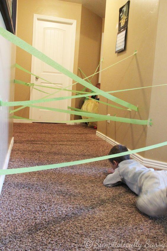 紙テープのレーザー光線