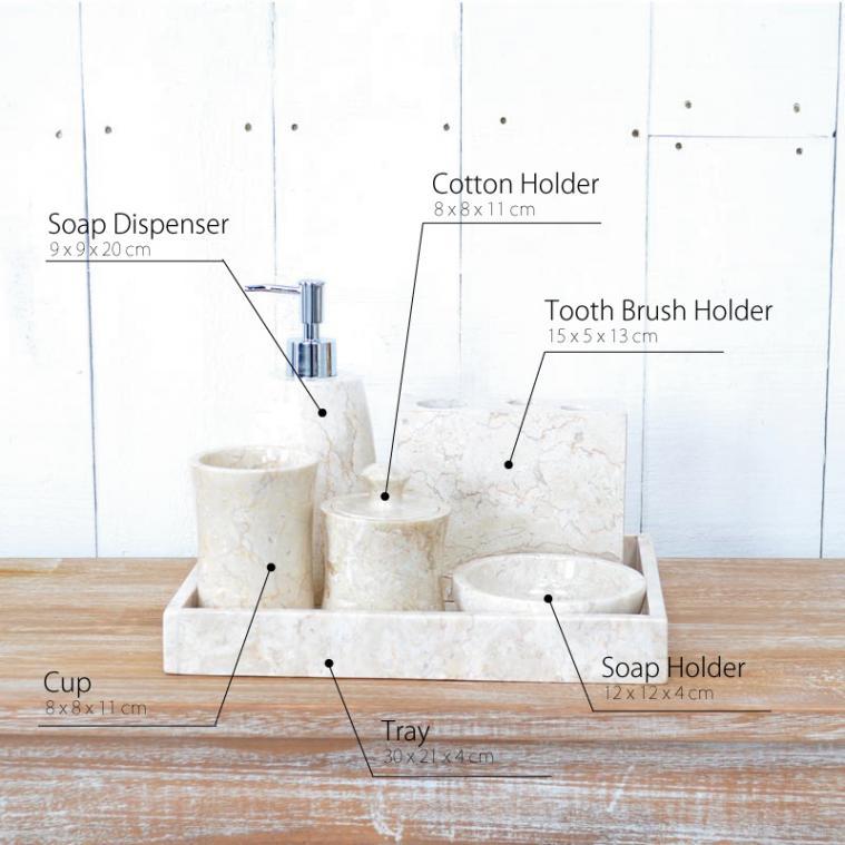 大理石のバスルームセット