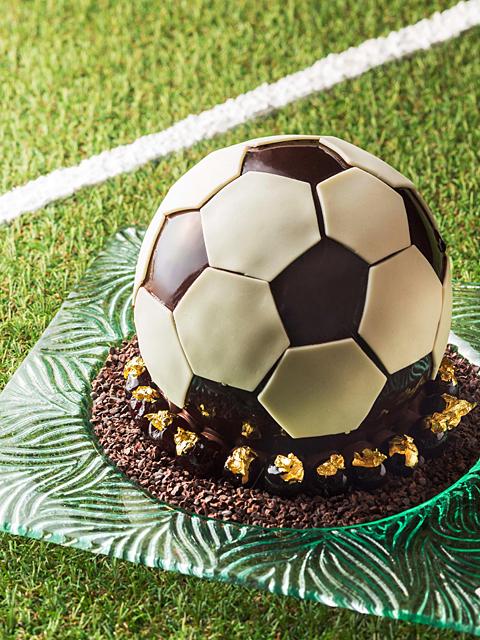 サッカーボール型のケーキ